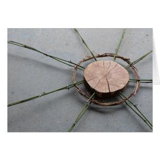 Rechtes Holz und Bambus der Kreis-Form-1 Karte