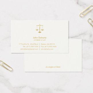 RECHTSANWALT AN GESETZ| beruflichem elegantem Visitenkarte