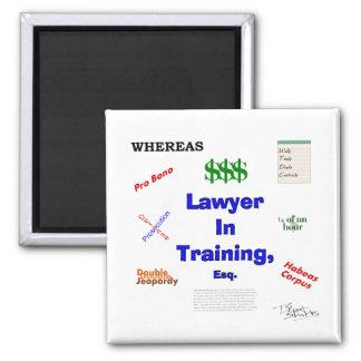 Rechtsanwalt im Training Quadratischer Magnet