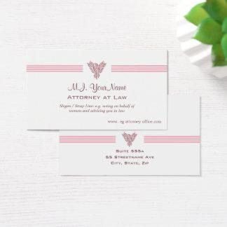Rechtsanwalt-/Rechtsanwaltsluxusstreifen und rosa Visitenkarte