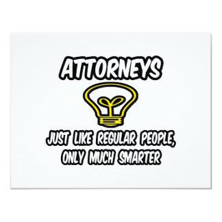 Rechtsanwälte… wie die regelmäßigen Leute, nur 10,8 X 14 Cm Einladungskarte