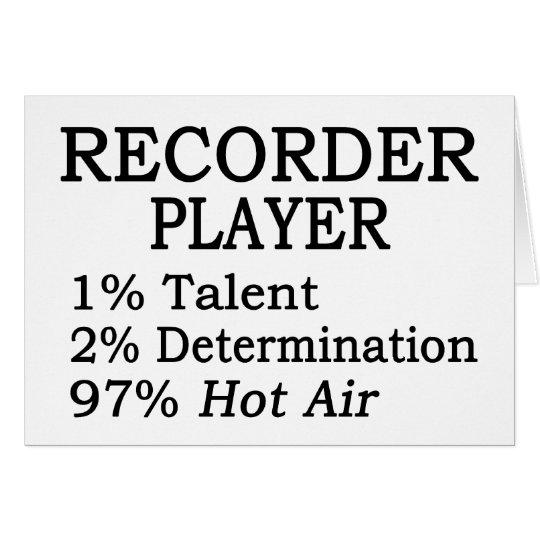 Recorder-Spieler-Heißluft Grußkarte