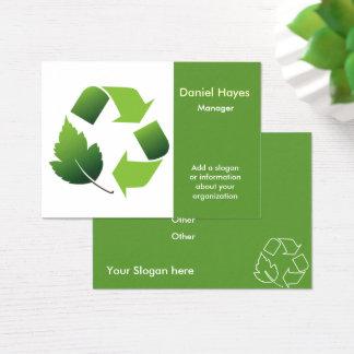 Recyceln der Firma Visitenkarte