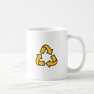 Recyceln der Pfeile Kaffeetasse
