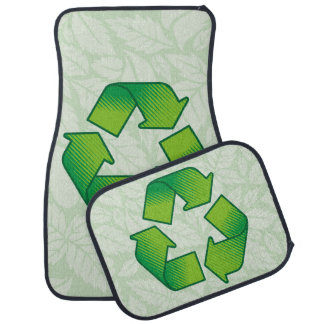 Recyceln des Symbols Autofußmatte