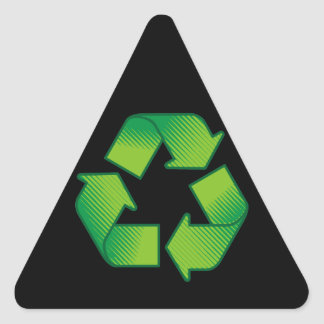 Recyceln des Symbols Dreieckiger Aufkleber