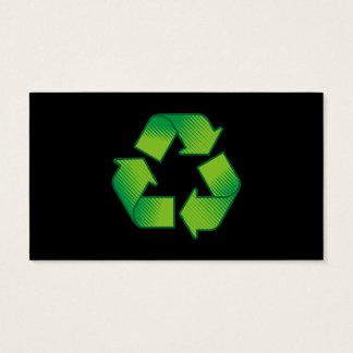 Recyceln des Symbols Visitenkarte