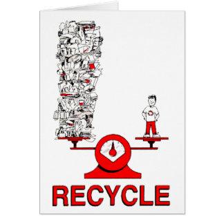 Recyceln Sie Abfall-Karte Karte