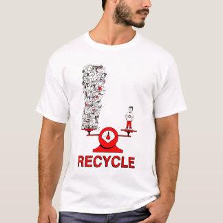 Recyceln Sie Abfall-Shirt T-Shirt