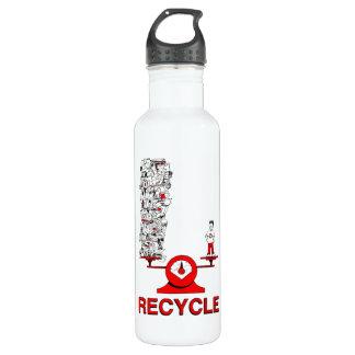 Recyceln Sie Abfall Trinkflasche