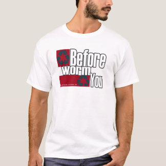 recyceln Sie bfore Wurm recyceln Sie T-Shirt