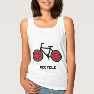 Recyceln Sie bycycle Behälterspitze Tank Top