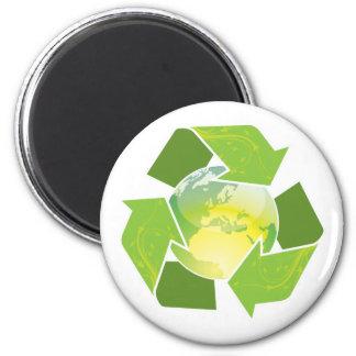 Recyceln Sie Erdemagneten, Knopf u. Keychain Runder Magnet 5,7 Cm