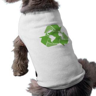 Recyceln Sie Erdgrün Shirt