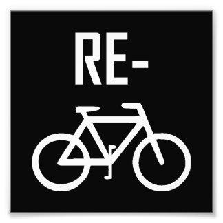 Recyceln Sie Fahrrad-Fahrrad Fotodruck