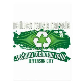 Recyceln Sie Jefferson City Postkarte