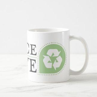 Recyceln Sie Kaffeetasse