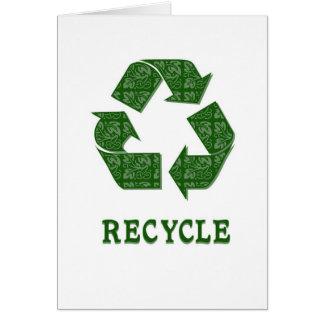 Recyceln Sie Karte