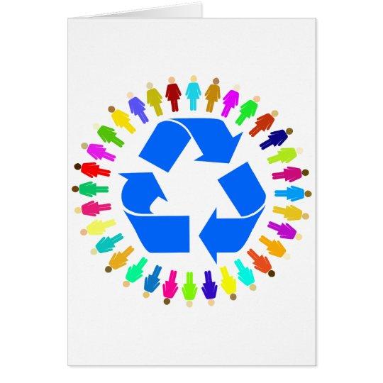 recyceln Sie Leute Grußkarte