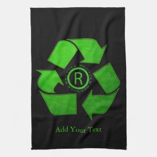 Recyceln Sie Logo durch Shirley Taylor Handtuch