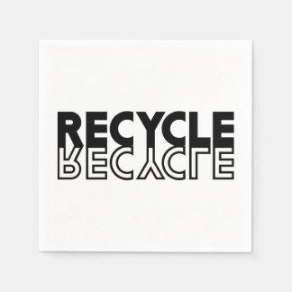 Recyceln Sie Papierservietten