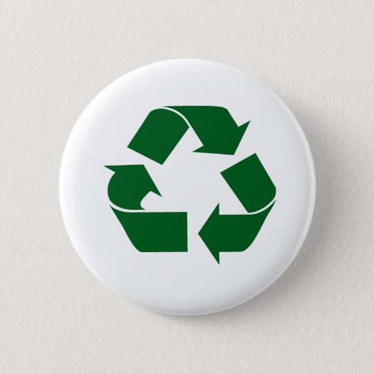 Recyceln Sie Runder Button 5,1 Cm