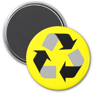 Recyceln Sie Runder Magnet 7,6 Cm