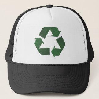 Recyceln Sie Symbolhut Truckerkappe