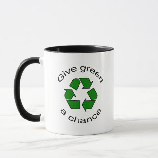 Recyceln Sie Tasse