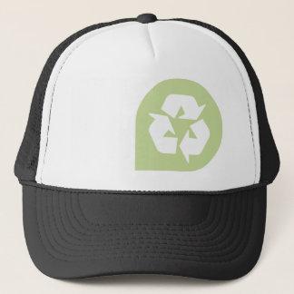 Recyceln Sie Truckerkappe