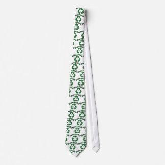 Recyceln Sie universelles recyceln Emblem mit Plan Krawatten