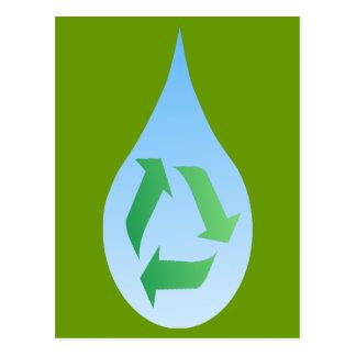 Recyceln Sie Wasser-Postkarte Postkarte