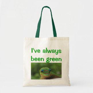 Recyceln Sie Wiederverwendunggrünen Gecko Tragetasche