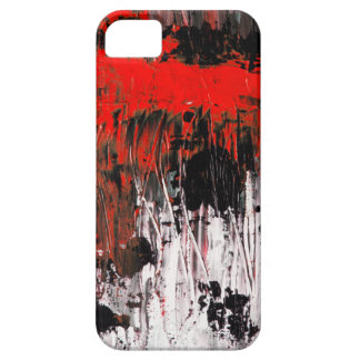 Red abstract art painting phone case