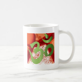Red-Orange-Bg_Green-Om Kaffeetasse