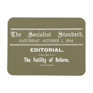 Redaktionelle Beige sozialistischer Magnet
