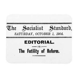 Redaktionelles Schwarzes sozialistischer Magnet