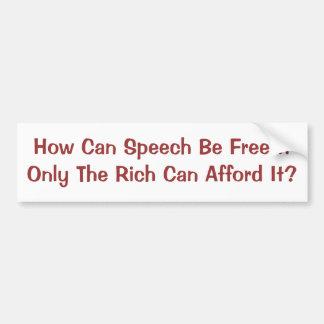 Redefreiheit für nur Reiche Autoaufkleber