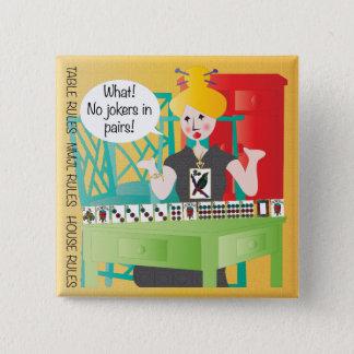 Redewendungen Milliamperestunde Jongg keine Joker Quadratischer Button 5,1 Cm