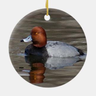 Redhead-Ente - Verzierung Rundes Keramik Ornament
