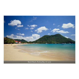 Reduit Strand, Rodney-Bucht, St Lucia Poster