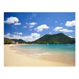 Reduit Strand, Rodney-Bucht, St Lucia Postkarte