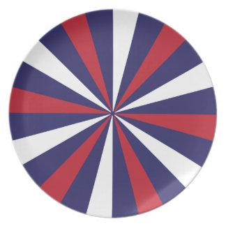 RedWhite und blaue patriotische Platte Melaminteller