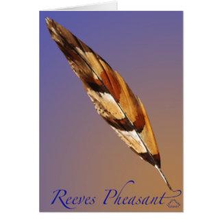 Reeves-Fasan-Schwanz Karte