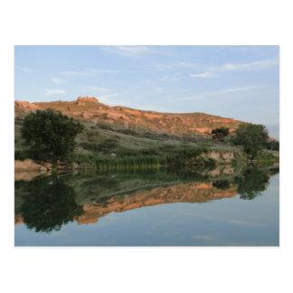 REFLEXION am See-Scott-Staats-Park Kansas Postkarte