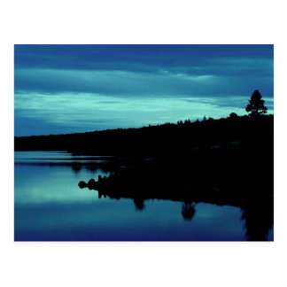 Reflexion in den Blues Postkarte