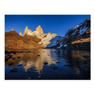 Reflexion von Fitz Roy am Sonnenaufgang Postkarte