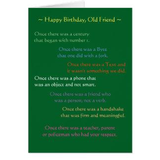Reflexionen auf einem Geburtstag Karte