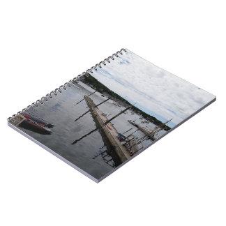 """""""Reflexionen"""" Boothbay Hafen MaineSpiral Notizbuch Notizblock"""