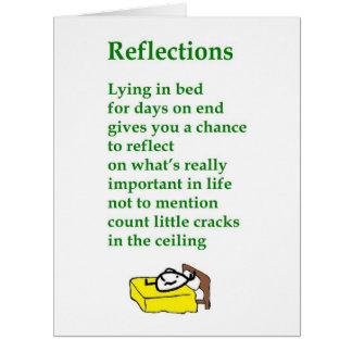 Reflexionen - ein lustiges erhalten wohles Gedicht Karte